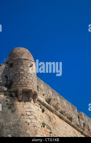 Rethymnon Old Town Fortress, showing the Bastion of Saint Nicholos. Crete, Greece - Stock Photo