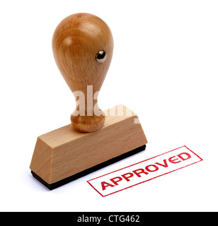 Rubber stamp approved - Stock Photo