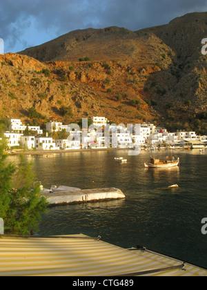 Early morning light, Loutro, South Crete, Greece - Stock Photo