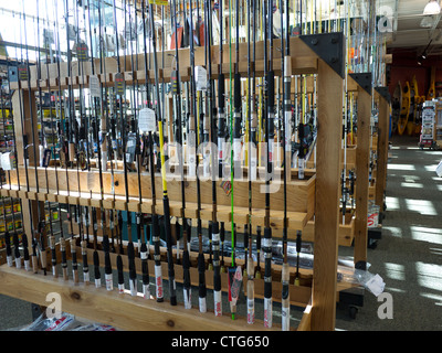 Fishing rods dicks sporting goods inside store stock photo for Dicks sporting goods fishing poles