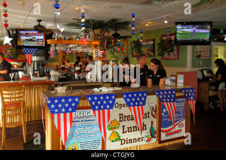 Stuart Florida SW Osceola Street Mulligan's Beach House Bar & and Grill restaurant interior - Stock Photo
