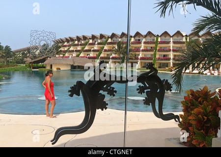 View From Diningroom With Signature Lizard Door Handles Of Swimming Pool At Gran Velas Resort In