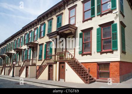 Sylvan Terrace Row Houses, Historic District, Manhattan - Stock Photo