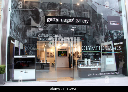 Getty Images Gallery at Westfield Stratford City in London - Stock Photo