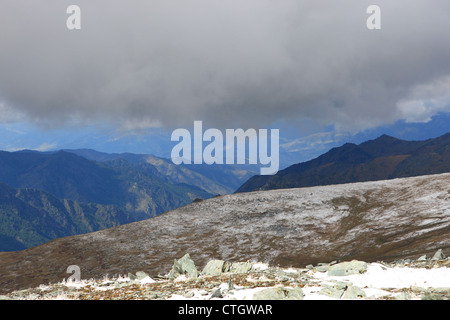 Mountain plateau, the landscape over the Gorge - Stock Photo