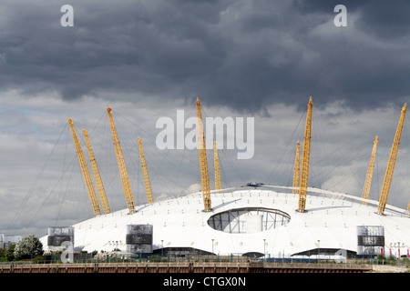 Walkers on the Central Platform during their Expedition Across the O2 Roof - Stock Photo