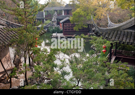 Overlook of Tuisi garden, located in Tongli of Suzhou, built in 1885, is one of the world cultural heritage. - Stock Photo