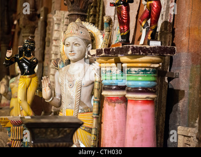 Imported artifacts and decorative items from India. - Stock Photo