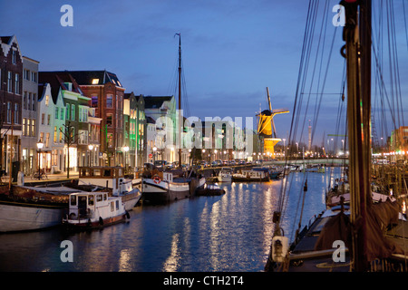 The Netherlands, Rotterdam, Old harbor near centre called Delfshaven. - Stock Photo