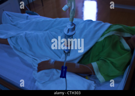 Stock Photo - Close up of an infusion bottle Intravenous drip - Stock Photo