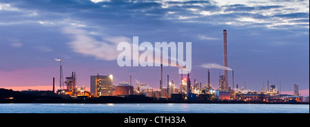 The Netherlands, Rotterdam, Petro chemical industry. - Stock Photo