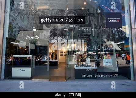 Getty Images Gallery, Olympic Games Through The Ages exhibition, Westfield Stratford City Shopping Centre, London, - Stock Photo