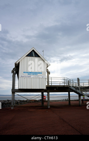 Morecambe & Heysham Yacht Club 'Race Office' on Morecambe Seafront, Lancashire, England. - Stock Photo