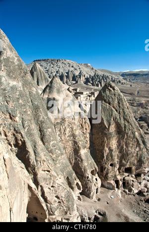 Rock formations at the Cappadocia, Goreme, Turkey - Stock Photo