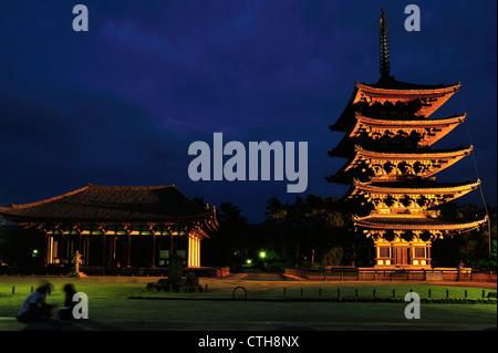 Kofuku-ji, Nara City, Nara Prefecture, Kansai, Honshu, Japan - Stock Photo