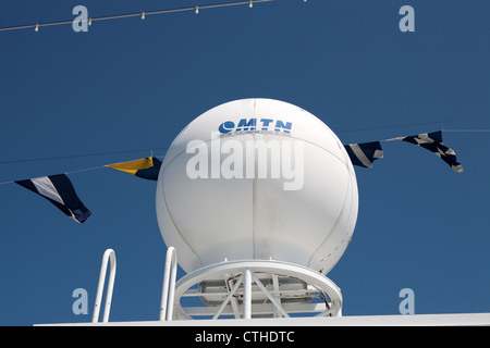 Holland America Line MS Oosterdam ships Radar - Stock Photo