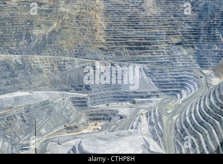 Bingham Canyon Mine aka Kennecott Copper Mine, an open-pit mining southwest of Salt Lake City, Utah, USA - Stock Photo