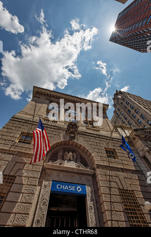 Chase Manhattan Bank in Brooklyn, New York , USA - Stock Photo
