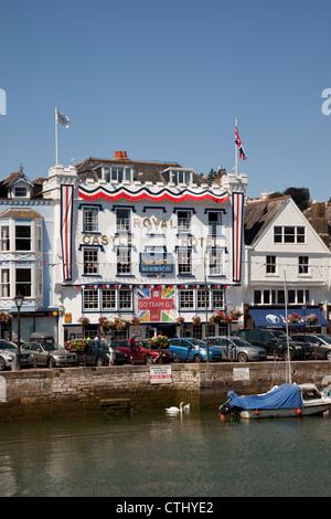 The Royal Castle Hotel, Dartmouth, Devon, England - Stock Photo