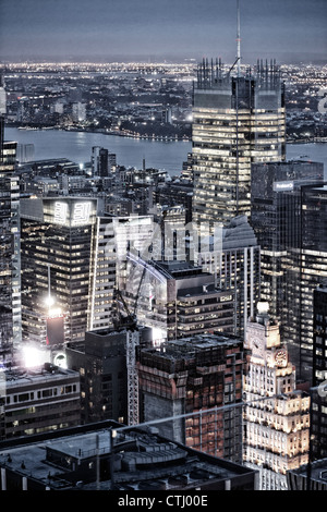 Top of the Rock, Rockefeller Center, Skyscraper, New York - Stock Photo