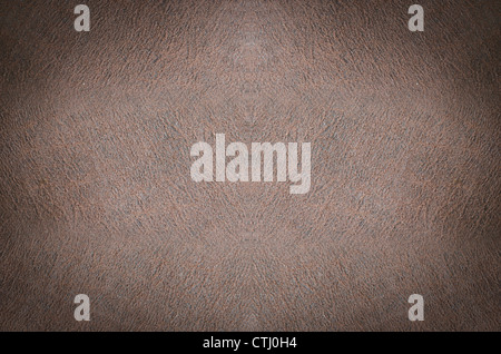 Background of crumpled dense fabric colored in brown tones - Stock Photo