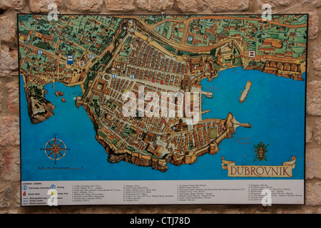 Map of dubrovnik croatia stock photo 44100846 alamy croatia political map map of old town of dubrovnik croatia stock photo gumiabroncs Gallery
