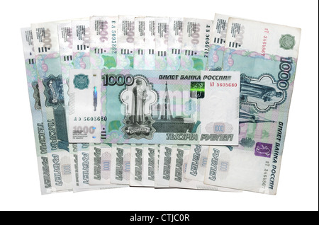 banknotes 1000 Russian rubles - Stock Photo