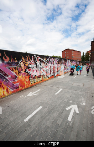 Graffiti wall, Tampere Finland - Stock Photo