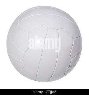 White leather football - Stock Photo