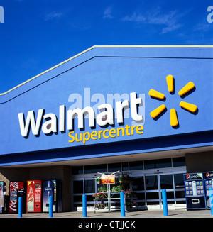 Walmart Supercentre store sign logo exterior   KATHY DEWITT - Stock Photo