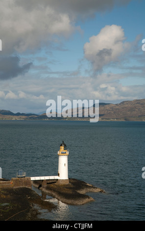 Rubha nan Gall lighthouse on the Sound of Mull near Tobermory on the Isle of Mull which was built in 1857 - Stock Photo