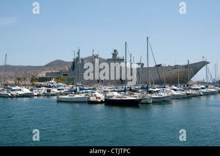 L61 the Juan Carlos 1 alongside in Cartagena Harbour southern Spain - Stock Photo