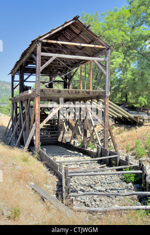Sutter's Mill sight of the California Gold Strike, Marshall State Park - Stock Photo