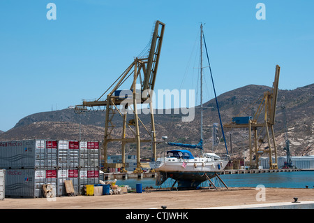 Yacht Port on Cartagena Harbour southern Spain - Stock Photo