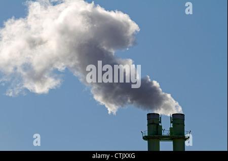 Smoking chimney - Stock Photo