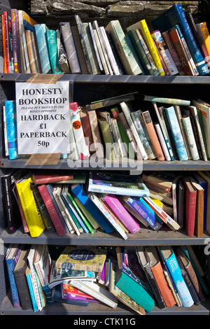 Secondhand books for sale in Hay Castle Bookshop, Hay-on-Wye, Powys, Wales, Cymru, UK, United Kingdom, GB, Great - Stock Photo