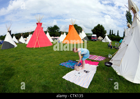 Wigwam tents at Hay-on-Wye Powys Wales Cymru UK : wigwam tents - memphite.com