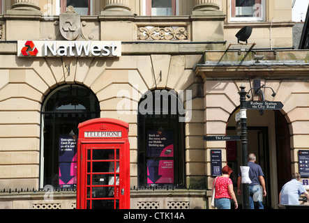 The NatWest Bank, Eastgate Street, Chester, England, U.K. - Stock Photo