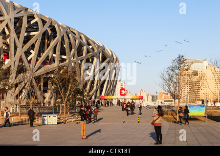 The National Stadium in Beijing, China, built for the 2008 Olympic Games. - Stock Photo
