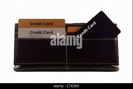 Credit Cards in the black wallet.