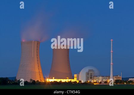 Nuclear power reactor, Germany - Stock Photo
