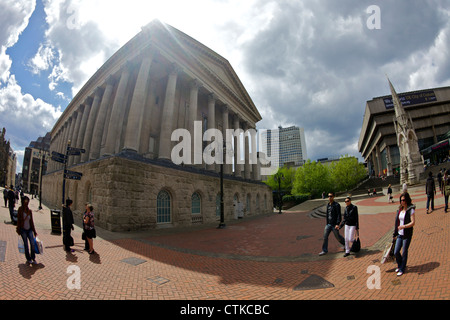 Town Hall and Chamberlain Square, Birmingham city centre, West Midlands, England, GB, Great Britain, UK, United - Stock Photo