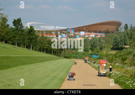 London 2012 Olympic Park Velodrome - Stock Photo