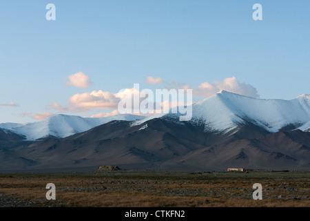 Pamir mountains in Tajikistan - Stock Photo