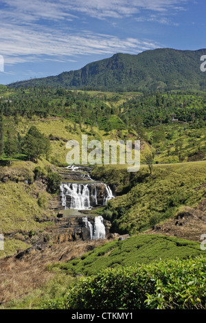 St. Clair Falls, Hill Country, Sri Lanka - Stock Photo