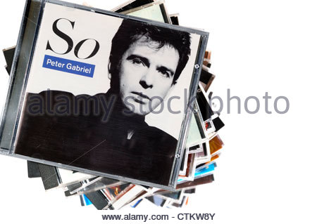 Peter Gabriel 1986 Album So, CD cases, England - Stock Photo
