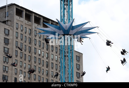 Star Flyer Fairground Ride on Londons South Bank - Stock Photo