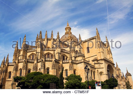 Catedral de Segovia, Cathedral of Segovia, Castilla y Leon, Spain. - Stock Photo