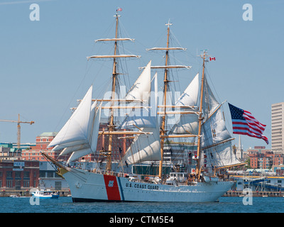 USCGB Eagle during the 2012 Tall Ships festival in Halifax, Nova Scotia. - Stock Photo