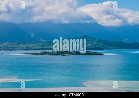 Coconut Island (Moku o Lo'e), Kaneohe Bay, Oahu, Hawaii - Stock Photo